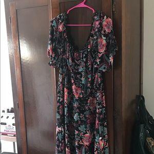 Beautiful off the shoulder maxi dress